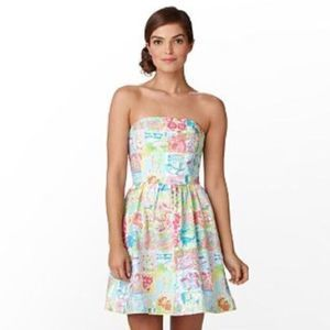 Lilly Pulitzer   State of Mind Strapless Dress